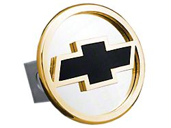 Chevrolet Class II Hitch Cover; Gold (Universal; Some Adaptation May Be Required)
