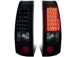 LED Tail Lights; Black Housing; Smoked Lens (99-02 Silverado 1500 Fleetside)