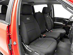 Rough Country Neoprene Front and Rear Seat Covers; Black (19-22 Silverado 1500 Crew Cab)