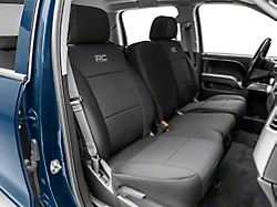Rough Country Neoprene Front Seat Covers; Black (14-18 Silverado 1500)