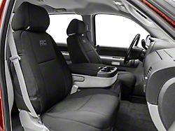 Rough Country Neoprene Front and Rear Seat Covers; Black (07-13 Silverado 1500 Crew Cab)
