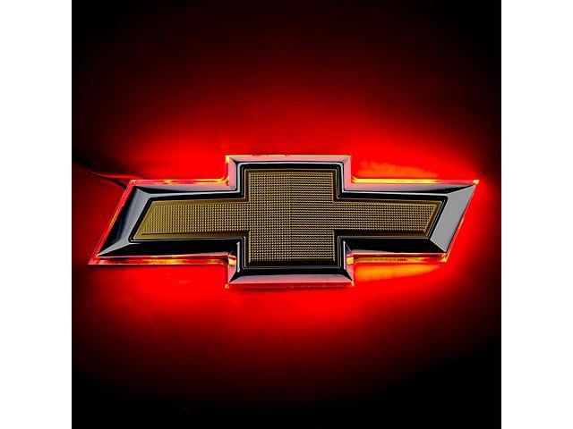 Oracle Emblem; Red Illuminated LED Rear Bowtie Emblem