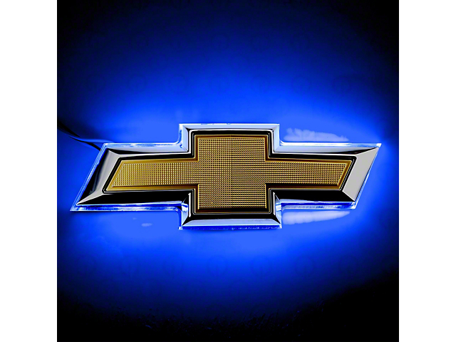 Oracle Emblem; Blue Illuminated LED Rear Bowtie Emblem