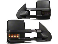 Powered Heated Towing Mirrors with LED Turn Signals; Black (03-06 Silverado 1500)