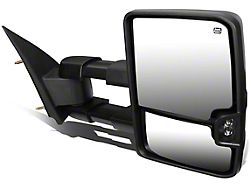 Powered Heated Towing Mirror with LED Turn Signal; Black; Passenger Side (03-06 Silverado 1500)