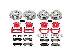 Power Stop Z23 Evolution Sport 6-Lug Brake Rotor, Pad and Caliper Kit; Front and Rear (99-02 Sierra 1500 w/ Single Piston Rear Caliper)
