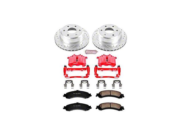 Power Stop Z23 Evolution Sport 6-Lug Brake Rotor, Pad and Caliper Kit; Rear (01-06 Silverado 1500 w/ Dual Piston Rear Caliper)