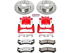 Power Stop Z36 Extreme Truck and Tow 6-Lug Brake Rotor, Pad and Caliper Kit; Front (99-06 Silverado 1500 w/o Rear Drum Brakes)