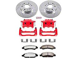Power Stop Z36 Extreme Truck and Tow 6-Lug Brake Rotor, Pad and Caliper Kit; Front (07-18 Sierra 1500)