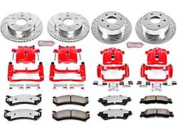 Power Stop Z36 Extreme Truck and Tow 6-Lug Brake Rotor, Pad and Caliper Kit; Front and Rear (03-06 Sierra 1500 w/ Single Piston Rear Caliper)