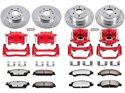 Power Stop Z36 Extreme Truck and Tow 6-Lug Brake Rotor, Pad and Caliper Kit; Front and Rear (07-13 Sierra 1500 w/ Rear Disc Brakes)