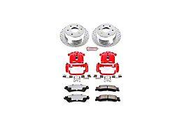 Power Stop Z36 Extreme Truck and Tow 6-Lug Brake Rotor, Pad and Caliper Kit; Rear (03-06 Sierra 1500 w/ Single Piston Rear Caliper)