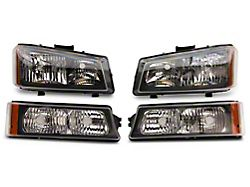 Axial OEM Style Replacement Headlights; Chrome Housing; Clear Lens (03-06 Silverado 1500)