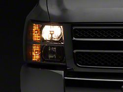 Axial OEM Style Replacement Headlights; Chrome Housing; Clear Lens (07-13 Silverado 1500)