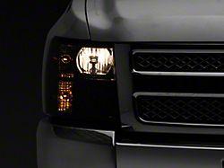 Axial OEM Style Replacement Headlights; Chrome Housing; Smoked Lens (07-13 Silverado 1500)