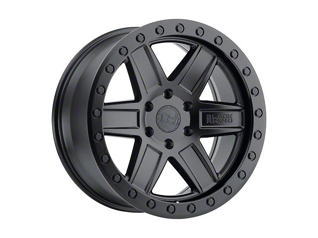 Black Rhino Attica Matte Black with Black Bolts 6-Lug Wheel; 18x9.5; -18mm Offset (05-15 Tacoma)