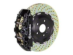 Brembo GT Series 8-Piston Front Big Brake Kit with 15-Inch 2-Piece Cross Drilled Rotors; Black Calipers (00-06 Silverado 1500)