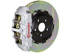 Brembo GT Series 8-Piston Front Big Brake Kit with 15-Inch 2-Piece Type 1 Slotted Rotors; Silver Calipers (00-06 Silverado 1500)