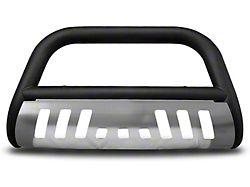 Armordillo Bumper Push Bar; Bull Guard; With Aluminum Skid Plate; Matte Black (99-06 Silverado 1500)