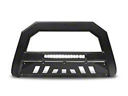 Armordillo Bumper Push Bar; With Aluminum Skid Plate; AR Series; With LED; Matte Black (99-06 Silverado 1500)