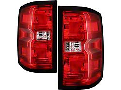 OE Style Tail Lights; Chrome Housing; Red/Clear Lens (16-18 Silverado 1500 w/o Factory LED Tail Lights)