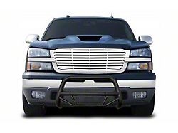 Bull Bar; Textured Black Steel; 2.50-Inch Round Tube; Includes License Plate Relocator (99-06 Sierra 1500)