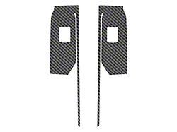 Rear Door Switch Accent Trim; Raw Carbon Fiber (19-22 Silverado 1500 Double Cab, Crew Cab)