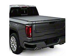 Lomax Stance Hard Tri-Fold Tonneau Cover; Black Diamond Mist (19-21 Sierra 1500 w/ 5.80-Foot Short & 6.50-Foot Standard Box)