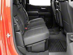 Underseat Storage with Lockable Lid; Black (19-21 Sierra 1500 Crew Cab)