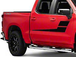 SEC10 Horizontal Side Stripes; Black (99-22 Silverado 1500)