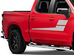 SEC10 Horizontal Side Stripes; Silver (99-22 Silverado 1500)