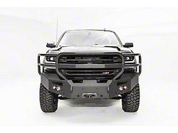 Fab Fours Premium Winch Front Bumper with Full Guard; Matte Black (16-18 Silverado 1500)
