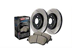 StopTech Street Axle Drilled and Slotted 6-Lug Brake Rotor and Pad Kit; Front and Rear (03-06 Sierra 1500 w/ Dual Piston Rear Calipers)
