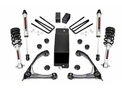 Rough Country 3.50-Inch Forged Upper Control Arm Suspension Lift Kit with Lifted Struts and V2 Monotube Shocks (07-13 4WD Sierra 1500)