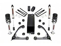 Rough Country 3.50-Inch Forged Upper Control Arm Suspension Lift Kit with Lifted Struts and V2 Monotube Shocks (14-16 4WD Silverado 1500 w/ Stock Cast Aluminum & Steel Control Arms)