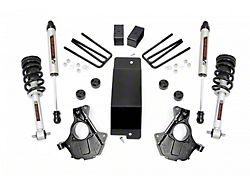 Rough Country 3.50-Inch Knuckle Suspension Lift Kit with Lifted Struts and V2 Monotube Shocks (07-13 4WD Sierra 1500)