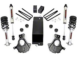 Rough Country 3.50-Inch Knuckle Suspension Lift Kit with Lifted Struts and V2 Monotube Shocks (14-18 4WD Sierra 1500 w/ Stock Cast Steel Control Arms, Excluding Denali)
