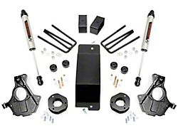 Rough Country 3.50-Inch Knuckle Suspension Lift Kit with V2 Monotube Shocks (14-18 4WD Sierra 1500 w/ Stock Cast Steel Control Arms, Excluding Denali)