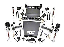 Rough Country 5-Inch Bracket Suspension Lift Kit with Premium N3 Shocks (14-18 4WD Silverado 1500)