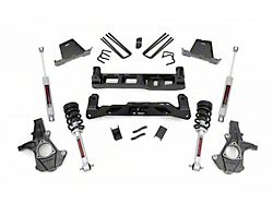 Rough Country 7.50-Inch Suspension Lift Kit with Lifted Struts and V2 Monotube Shocks (07-13 2WD Sierra 1500)