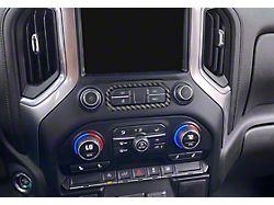 Center Dash Accent; Matte Domed Carbon Fiber (19-22 Silverado 1500)