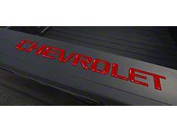 CHEVROLET Bed Rail Letter Inserts; Gloss Red (14-19 Silverado 1500)