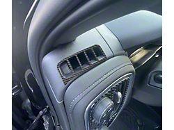 Driver/Passenger Upper A/C Vent Accent Trim; Raw Carbon Fiber (19-22 Silverado 1500)