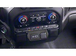USB Center Dash Accent; Domed Carbon Fiber (19-22 Silverado 1500)