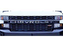 Stainless Steel Tailgate Insert Letters; Stamped Version (19-22 Silverado 1500)