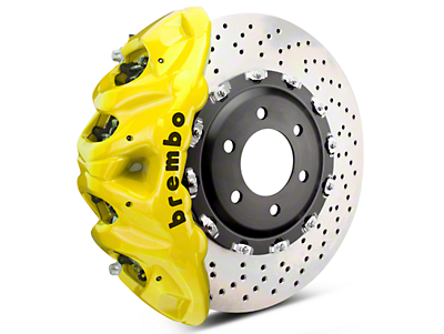 Brembo GT Series 8-Piston Front Brake Kit - 2-Piece Cross Drilled Rotors - Yellow (07-18 Sierra 1500)