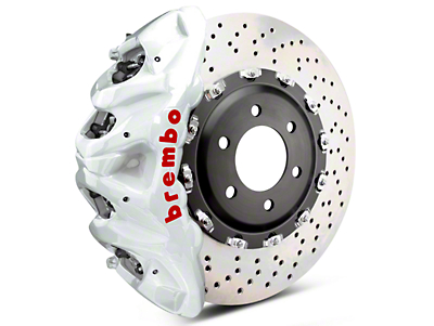 Brembo GT Series 8-Piston Front Brake Kit - 2-Piece Cross Drilled Rotors - White (07-18 Sierra 1500)
