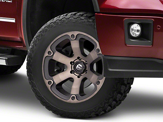 Fuel Wheels Beast Black Machined w/ Dark Tint 6-Lug Wheel - 20x10 -18mm Offset (07-19 Sierra 1500)