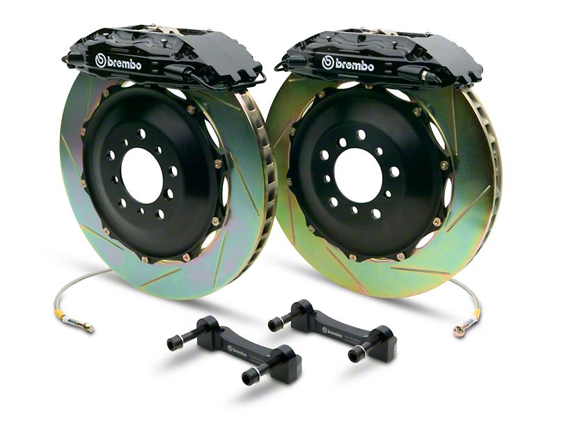 Brembo GT Series 4-Piston Rear Brake Kit - 2-Piece Slotted Rotors - Black (14-18 Sierra 1500)