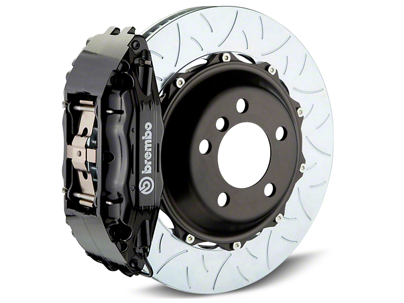 Brembo GT Series 4-Piston Rear Brake Kit - Type 3 Slotted Rotors - Black (14-18 Sierra 1500)